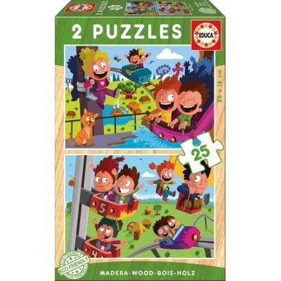 PUZZLES 2x25 PZAS PARQUE DE ATRACCIONES EDUCA 17617