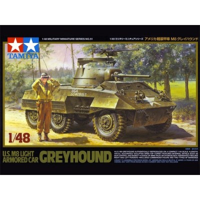 VEHICULO BLINDADO M-8 Greyhound 1/48 - Tamiya 32551