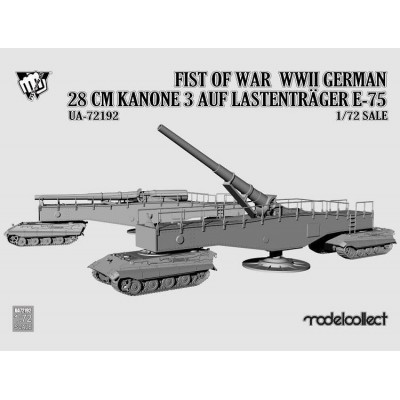 Fist of War: KANONE 3 -280 mm- SOBRE CARROS E-75 1/72 - Modelcollect UA72192