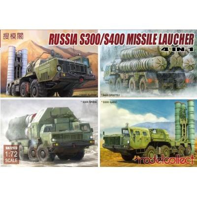 LANZADOR DE MISILES S-300 / S- 400 -4 en 1- & Sistema de armas (5P85S / 5p85D / 5p85SE / 5P85TE2) 1/72 - Modelcollect UA72193