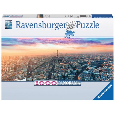 PUZZLE Panorama 1000 Pzas PARIS Y LA LUZ DEL AMANECER - Ravensburger 15089