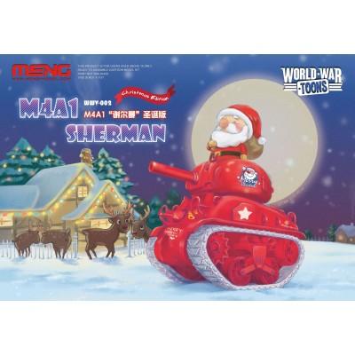 CARRO DE COMBATE SHERMAN Christmas Edition -TOONS- Meng Model WWV-002