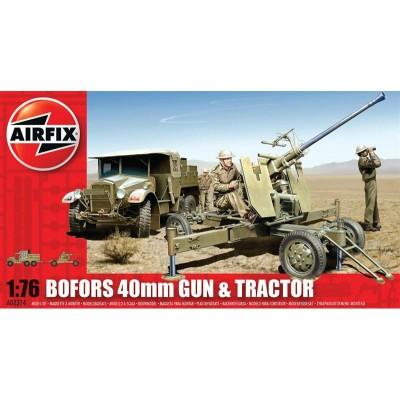 TRACTOR & CAÑON BOFORS (40 mm) -1/72- Airfix A02314