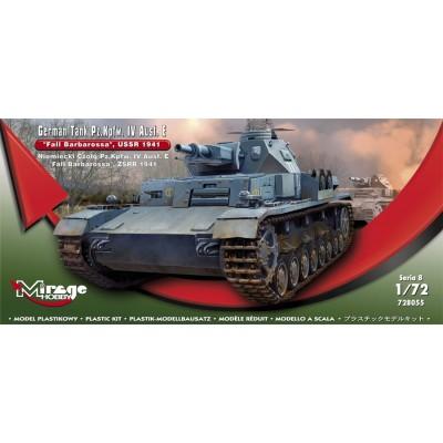 CARRO DE COMBATE SD.KFZ. 161 Ausf. E PANZER IV 1/72 - Mirage Hobby 728055