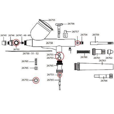 JUNTAS TORICAS AEROGRAFO - Dismoer 26753