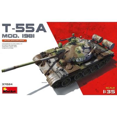 CARRO DE COMBATE T-55 A Mod. 1981 1/35 - MiniArt 37024