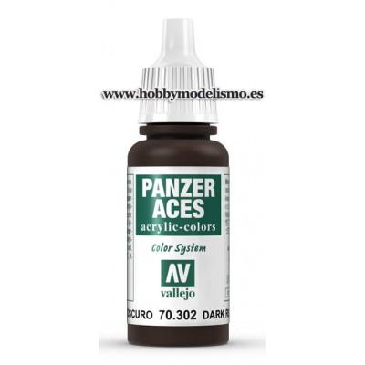 PINTURA ACRILICA PANZER ACES OXIDO OSCURO (17 ml) - Acrylicos Vallejo 70302