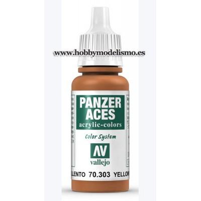 PINTURA ACRILICA OXIDO AMARILLENTO (17 ml) PANZER ACES