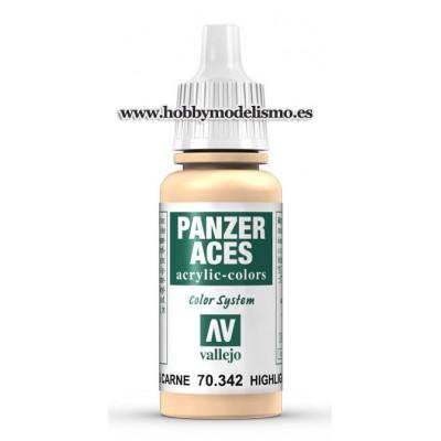 PINTURA ACRLICA LUCES CARNE (17 ml) Panzer Aces VALLEJO 70342