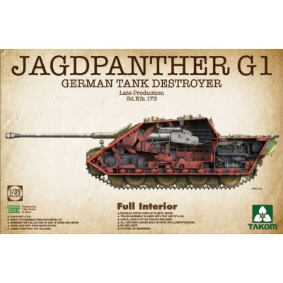 CAZA CARROS Sd.Kfz. 173 JagdPanther Ausf.G1 1/35 - Takom 2106
