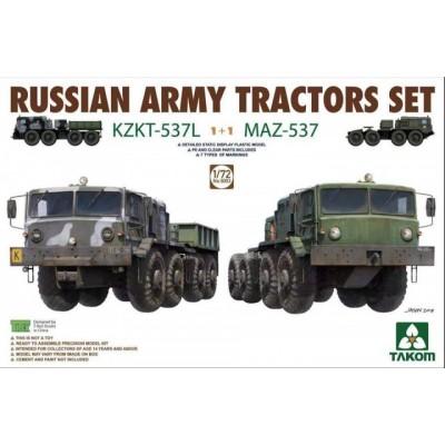TRACTORES RUSOS KZKT-537 L & MAZ-537 1/72 - Takom 5003