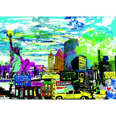 PUZZLE 1000 PZS I LOVE NEW YORK - HEYE 29681