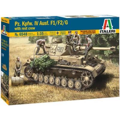 CARRO DE COMBATE Sd.Kfz. 141 Ausf. F1/ F2 / G & TRIPULACION 1/35 - Italeri 6548