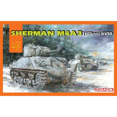 CARRO DE COMBATE M-4 A3 (105 mm) VVSS SHERMAN 1/72 - DRAGON 7569