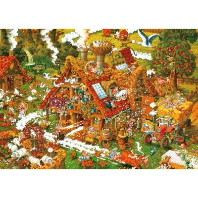 PUZZLE 1500 PZS FUNNY FARM - HEYE 8832
