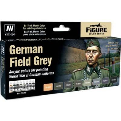 SET PINTURAS GERMAN FIELD GREY (8 COLORES)
