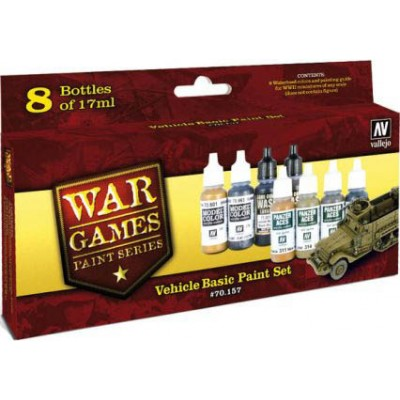 WWII WARGAMES SET: SET COLORES BASICOS VEHICULOS