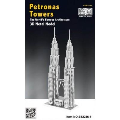 PETRONAS TOWERS 3D METAL MODEL B12236