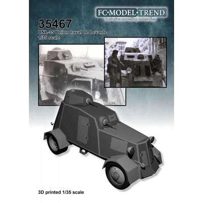 VEHICULO BLINDADO UNL-35 (3D & Plastico) 1/35 - FC MODEL TREND 35467