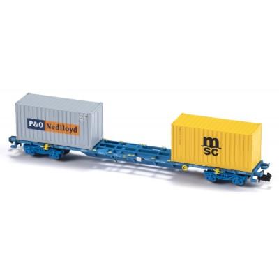 VAGON MF TRAIN N33404 -PORTACONTENEDORES MMC3E SGNSS RENFE - ESCALA N