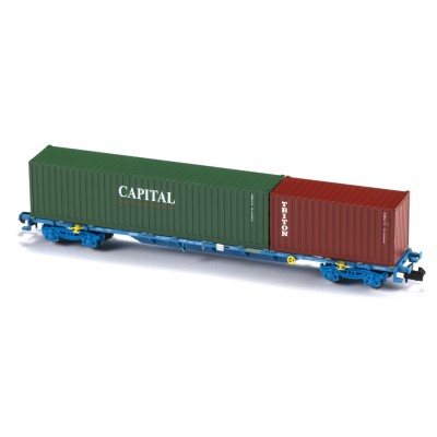 VAGON MF TRAIN N33403 -PORTACONTENEDORES MMC3E SGNSS RENFE - ESCALA N