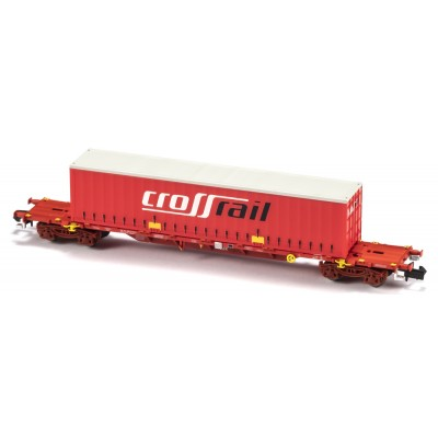 VAGON MF TRAIN N33408 -PORTACONTENEDORES MMC3E SGNSS TAKARGO - ESCALA N