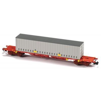 VAGON MF TRAIN N33409 -PORTACONTENEDORES MMC3E SGNSS TAKARGO - ESCALA N