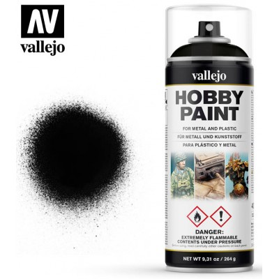 SPRAY ACRILICO IMPRIMACION NEGRA (400 ml) VALLEJO 28012