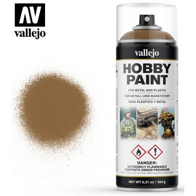 SPRAY HOBBY PAINT MARRON CUERO 400ml ACRILICOS VALLEJO 28014