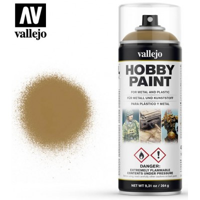 SPRAY HOBBY PAINT AMARILLO DESIERTO 400ml ACRILICOS VALLEJO 28015