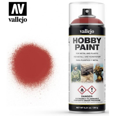 SPRAY HOBBY PAINT ROJO ESCARLATA 400ml ACRILICOS VALLEJO 28016