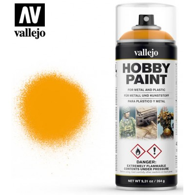 SPRAY HOBBY PAINT AMARILLO SOLEADO 400ml ACRILICOS VALLEJO 28018