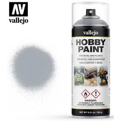 SPRAY HOBBY PAINT PLATA 400ml ACRILICOS VALLEJO 28021
