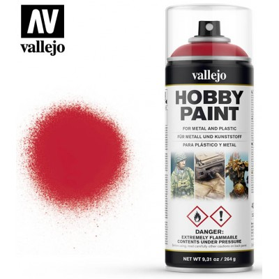 SPRAY HOBBY PAINT ROJO SANGUINA 400ml ACRILICOS VALLEJO 28023