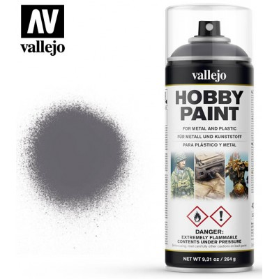 SPRAY HOBBY PAINT GRIS METALIZADO 400ml ACRILICOS VALLEJO 28031