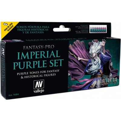 FANTASY PRO SET: IMPERIAL PURPLE COLORS (8 BOTES 17ML) - ACRILICOS VALLEJO 74104