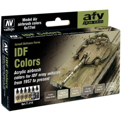 MODEL AIR SET: IDF COLORS (6 BOTES 17ML) - ACRILICOS VALLEJO 71210
