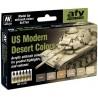 MODEL AIR SET: US MODERN DESERT COLORS (6 BOTES 17ML) - ACRILICOS VALLEJO 71209