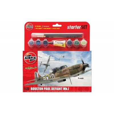 BOULTON PAUL DEFIANT MK-I (Pegamento + Pinturas) 1/72 - Airfix A55213