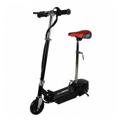 PATINETE ELECTRICO INFANTIL CON ASIENTO NEGRO 120W - Sabway 200.100