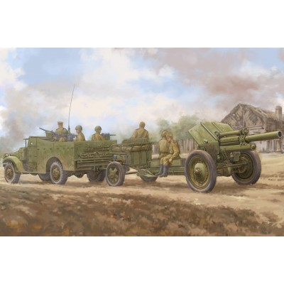 VEHICULO BLINDADO M-3 A1 Scout Car & OBUS M-30 (122 mm) SOVIETICO 1/35 - Hobby Boss 84537