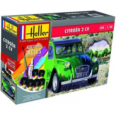 CITROEN 2 CV 1/24 (Pegamento & Pinturas) - Heller 56765