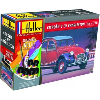 CITROEN 2 CV Charleston 1/24 (Pegamento & Pinturas) - Heller 56766