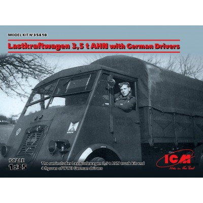 CAMION RENAULT AHN 5,5 Ton & CONDUCTORES 1/35 - ICM 35418