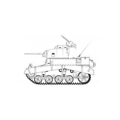 "CARRO DE COMBATE M-3 STUART ""Honey"" 1/35 - Airfix A1358"