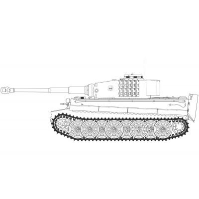 CARRO DE COMBATE SD.KFZ. 181 TIGER I E Late 1/35 - Airfix A1364