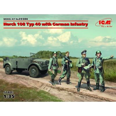 CAMION HORCH 108 Type 40 & Infanteria Alemana -1/35- ICM 35504