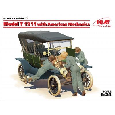 FORD Modelo T (1911) & Mecanicas 1/24 - ICM 24010