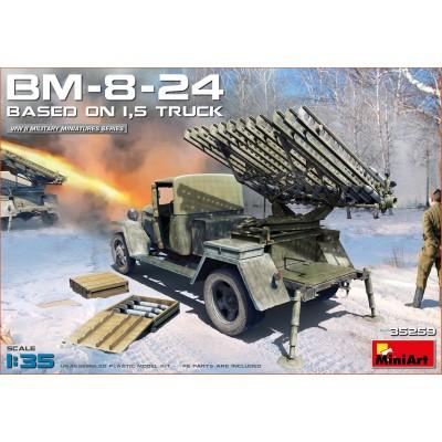 CAMION ZIS-5 CON LANZACOHETES BM-8-24 -1/35- MiniArt 35259