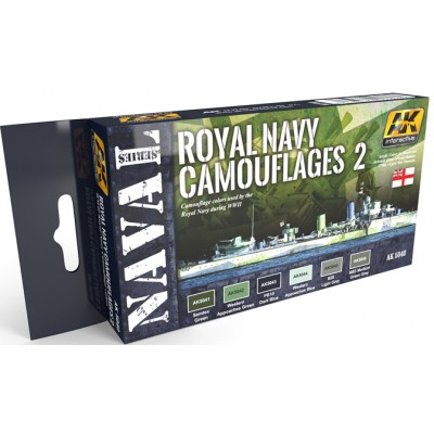Set colores: ROYAL NAVY CAMUFLAGES 2 - AK Interactive 5040